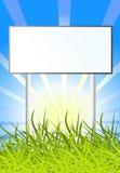 Billboard on sun nature background Stock Photography