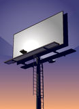 Billboard at Sunset Stock Photos