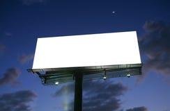 Billboard at sunset Royalty Free Stock Image