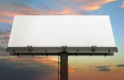 Billboard and sunset sky stock illustration