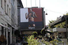 BILLBOARD WITH TOMMY HILFINGER UNDERWEARS Royalty Free Stock Images