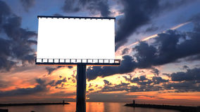 Billboard in twilight Royalty Free Stock Image