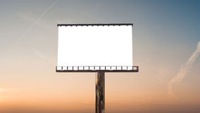 Billboard in twilight Stock Images