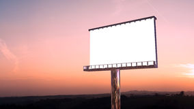 Billboard in twilight Stock Photo