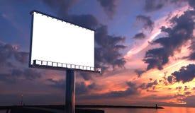 Billboard in twilight Royalty Free Stock Photos