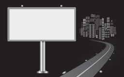 Billboard with urban horizon Royalty Free Stock Photos