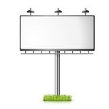 Billboard vector background with grass Royalty Free Stock Image