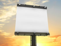 Billboard vertical with clipping path royalty free stock photo