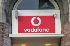 Billboard Vodafone Firma Przy Amsterdam holandie 2019 zdjęcia royalty free