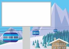 Billboard w górach Zdjęcia Stock