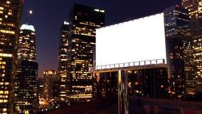 Billboard w nocy mieście Zdjęcie Royalty Free