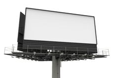 Billboard on White Royalty Free Stock Photo