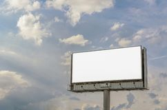 Stand for advertising, Billboard panel overlooking the city street, mockup blank. stock image
