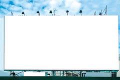 Billboard white large advertise Royalty Free Stock Photo