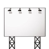 Billboard white shadow Royalty Free Stock Photography
