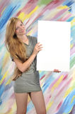 Billboard woman Stock Photo