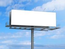 Billboard z pustym ekranem na niebieskim niebie Zdjęcie Stock