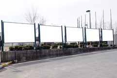 Billboards. A blank Billboards for you to add your text or image to Royalty Free Stock Photo