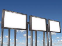 Billboards. A blank Billboards for you to add your text or image to Royalty Free Stock Image