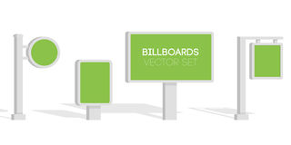 Billboards, advertise billboards, city light billboard. Flat 3d  illustration for infographic Royalty Free Stock Photos