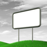 Billboards on b&w sky. Billboards on b&w sky. High resolution 3d render Stock Photo