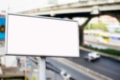 Billboards. In department store background royalty free stock image