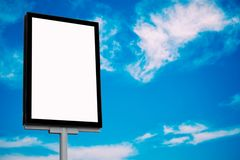 Billboards. In department store background royalty free stock photos