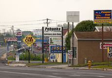 Billboards, Chesapeake. Advertising billboards in Chesapeake, America Royalty Free Stock Photo