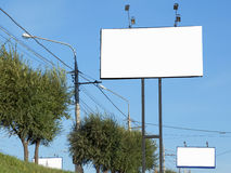 Billboards Royalty Free Stock Photography