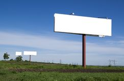 Billboards on field Stock Images