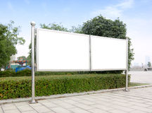 Billboards inside the park Royalty Free Stock Photo
