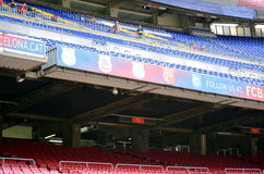 Billboards inside the stadium of Fc Barcelona Royalty Free Stock Photo