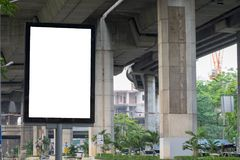 Billboards installed along the road to spend on advertising product. S Royalty Free Stock Photo