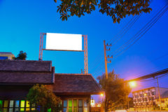 Billboards. Installed on high for it to be noticed and be seen in the long distances Royalty Free Stock Photos