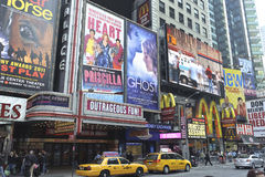 Billboards in times square Stock Image