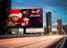 billboardu bożych narodzeń projekta ilustracja twój Zdjęcie Royalty Free