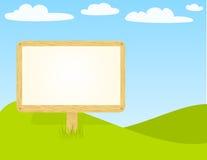 billboardu drewniany pusty Zdjęcia Royalty Free