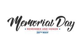 billboardu dzień odosobniony pamiątkowy biel USA dnia pamięci literowania typografii projekt ilustracja wektor