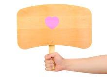 billboardu formularzowi serc majchery drewniani Obraz Royalty Free