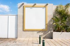 billboardu plenerowy pusty Egzamin próbny Up Pusty reklama stojak, informacji publicznej deska zdjęcie royalty free