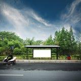 billboardu przystanek autobusowy Zdjęcia Royalty Free