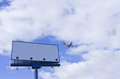 billboardu pustego miejsca samolot Fotografia Royalty Free