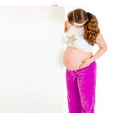 billboardu pustego mienia odosobniony kobieta w ciąży Fotografia Royalty Free