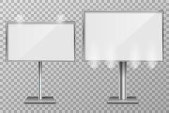 Billboardu szablonu projekt dla plenerowej reklamy i projekta 3d handlu detalicznego oświetleniowi billboardy Biznesowy pojęcie Obrazy Stock