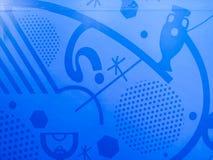 Billboardu tło 2016 UEFA euro Francja Zdjęcia Royalty Free