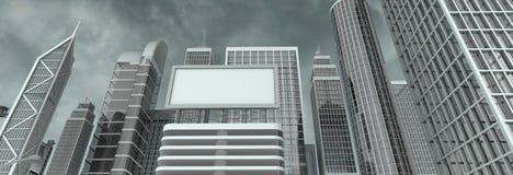 billboardu ulicy ściana Zdjęcie Royalty Free