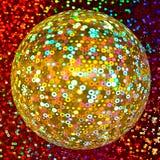Bille éclatante d'or de disco Images stock