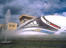 Bille énorme avec le logo de l'UEFA EURO 2012⢠Images stock