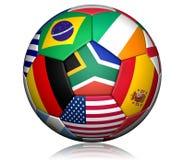 Bille 2010 de coupe du monde du football Images libres de droits
