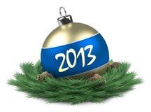 Bille 2013 de Noël d'isolement Photos libres de droits